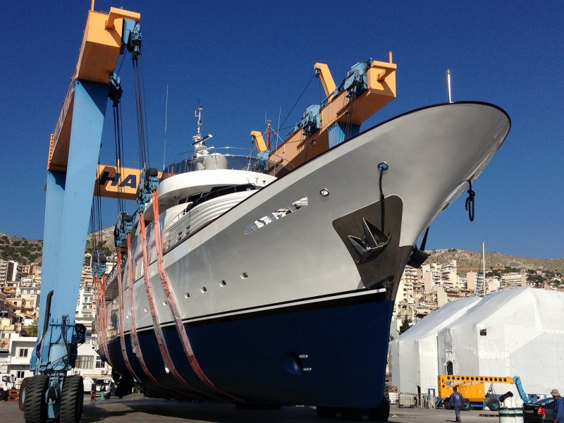M/Y 50m – General repair-Full painting- Modification and installation of anti-roll gyro units